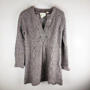 KENJI Gray Alpaca Blend Tunic Sweater